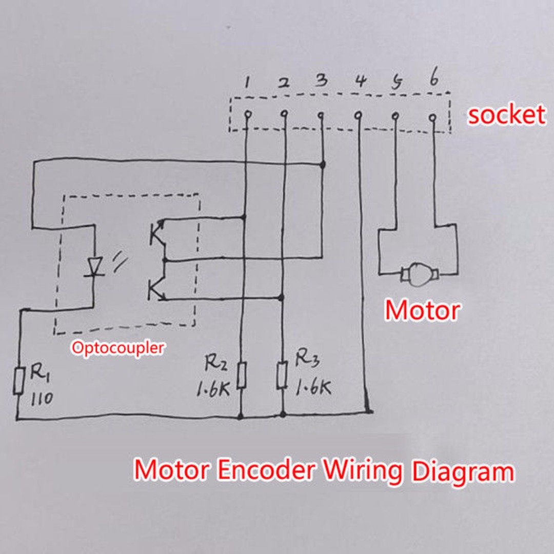 1pc 130 Metal Motor Dc 6v 12v 7800rpm Speed Encoder Tachometer To Wiring Diagram Motors Ab Phase For