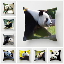 Fuwatacchi Animal Impresso Throw Pillow Covers Panda Chinês Capa de Almofada para o Sofá Do Assento de Carro Para Casa Decorativo Fronha 2019(China)
