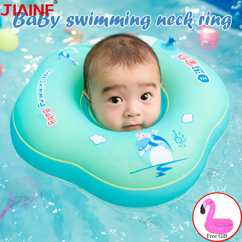 JIAINF Baby Swimming Ring Circle On Neck For Bathing Circle For Bathing Newborns Baby Bathtub