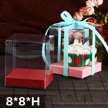 10 PCS 2019 Latest Style Clear PVC Cute Doll &Cup Cake display&Packaging box  Festival&Wedding Souvenir&Candy Gift box 8*8*Hcm