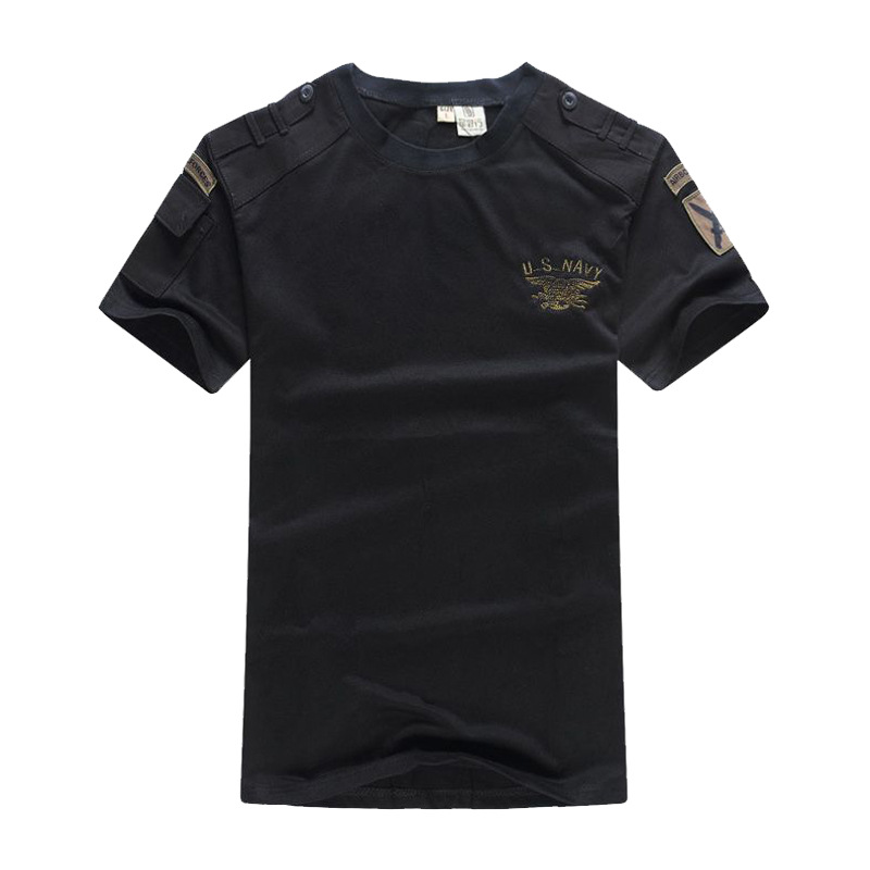 US Navy Seals Tactical   T     Shirt   Airborne Military Clothes Mens Army SWAT Camouflage Combat Short-sleeve Loose Cotton Tee   T  -  shirts