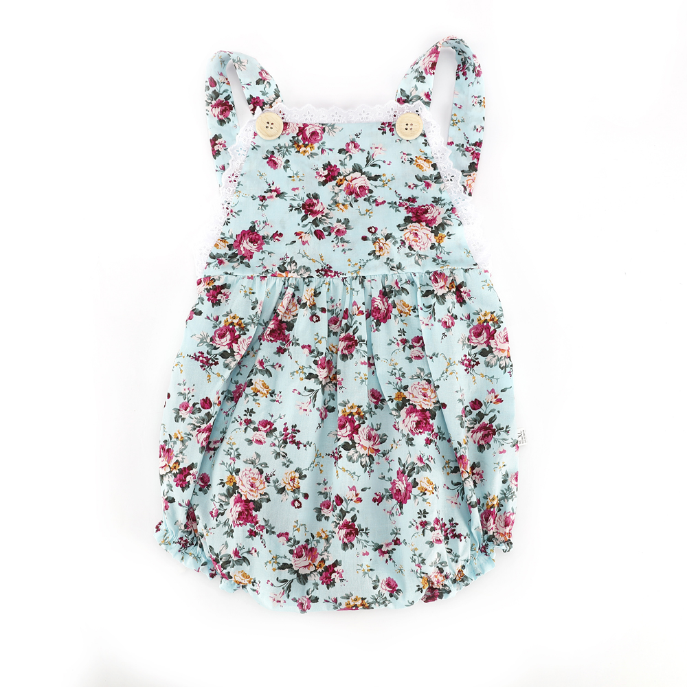 Summer Style Baby Girl Romper Floral Printing Spaghetti Strap Jumpsuit Infantil Baby Girl Clothes Beach Rompers
