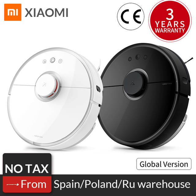US $379 99 20% OFF|Global Roborock Robot Vacuum Cleaner 2 s50 s55 for  Xiaomi Mi Home APP Smart Wet Mopping Cleaning Dust Intelligent Path Planned  -in
