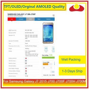"""Image 3 - ORIGINAL 5,5 """"Für Samsung Galaxy J7 2015 J700 J700F J700H J700M LCD Display Mit Touch Screen Digitizer Panel Pantalla komplette"""