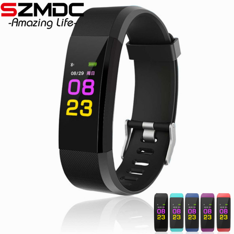 ID115 Plus Smart Wristband Bracelet Heart Rate Monitor blood pressure watch Pedometer Fitness Tracker for iphone Android phone id115 smart watch fitness sport wristband watch for ios android iphone heart rate monitor tracker men women watch oled bracelet