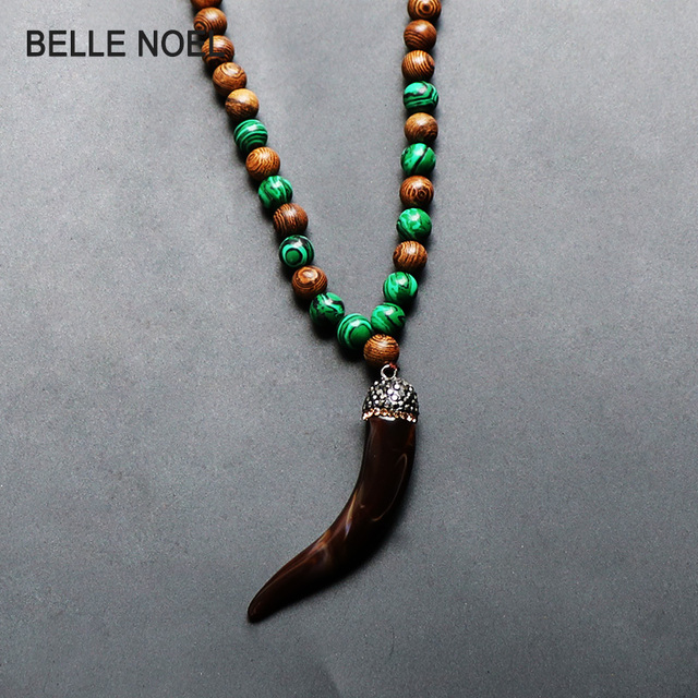 Trendy nature wood beads malachite necklace with resin animal micro trendy nature wood beads malachite necklace with resin animal micro pave crystal pendants for women men aloadofball Choice Image