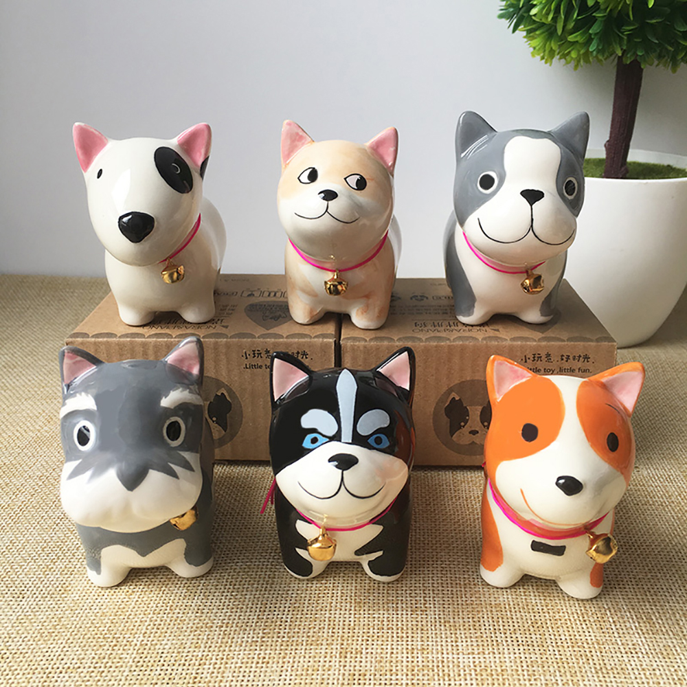 Car Ornament Cute Decoration Ceramic Dog Doll Automobiles Interior Dashboard Puppy Craft Toys Home Furnishing Christmas Gifts car ornament cartoon doll adornment cute expression car decoration dashboard auto interior decor car accessories for gifts 7cm