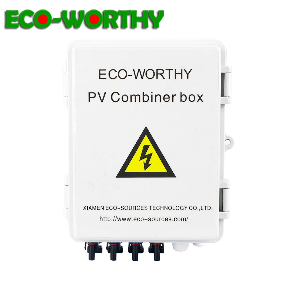 ECO 4 String PV Solar Combiner Box 40A Total input current circuit breaker for solar panel system Solar cell Home off grid kit