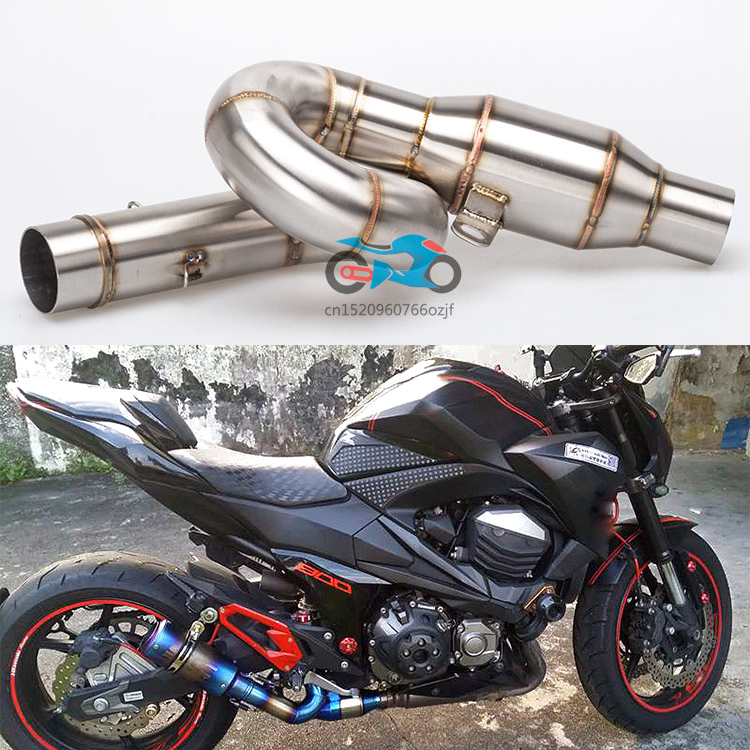 motorcycle exhaust link pipe mid pipe stainless steel fit for 51mm exhaust Convertor Adapter Z800 exhaust z800 link pipe