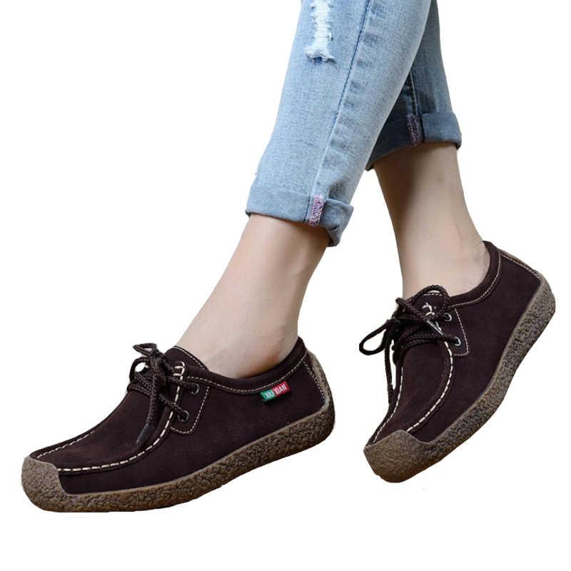 Kadınlar Flats moda makosen ayakkabılar Kadın Oxfords Ayakkabı Bahar Rahat Düz platform ayakkabılar Zapatos Mujer Slipony Kadın Ayakkabı Mokasen