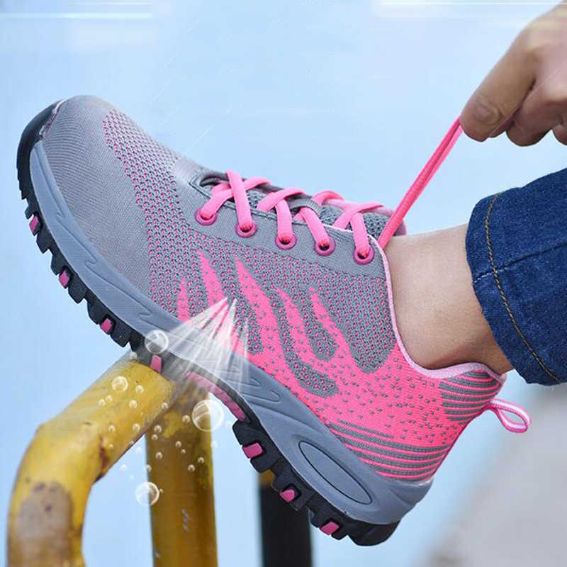 Sicherheit Schuhe Frauen In Arbeit & Sicherheit Schuhe Stahl Kappe Sommer Atmungsaktive Mesh Industrie & Bau Pannensichere Arbeit Schuhe