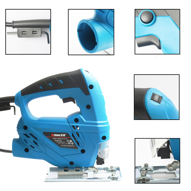 TECHSTABLE 710W Electric curve saw woodworking Electric jigsaw metal wood gypsum board cutting tool Free shipping  1