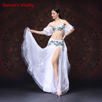 Dancer's Vitality 2017 Belly Dance Dress Harness Embroidered Diamonds Irregular Bellydance Costume For Oriental Dance Costumes