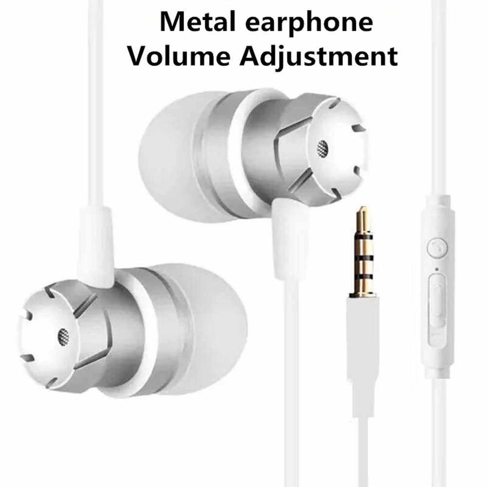 イヤホン金属低音 3.5 ミリメートルヘッドホンスポーツランニングステレオ耳のヘッドセットでマイク ios/Android プレーヤー携帯電話 Mp3