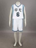 Free Shipping Kuroko S Basketball Daiki Aomine Teiko Middle School S Basketball Team Uniform White Number