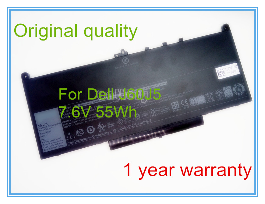 Free shipping New Original 7.6V 55Wh Built-in Battery for J60J5 Series 2017 liitokala 2pcs new protected for panasonic 18650 3400mah battery ncr18650b with original new pcb 3 7v