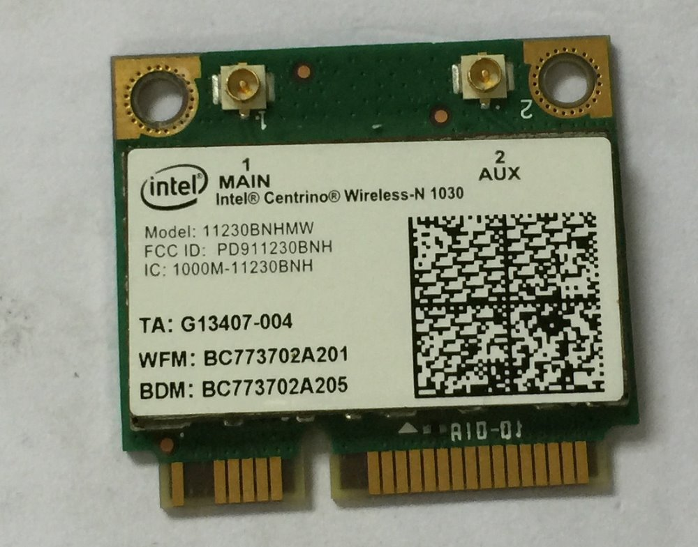 Intel Centrino Бездротовий-N 1030 11230BNHMW WiFi 150M + Bluetooth BT 3.0 Combo Card