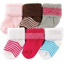 Warm Striped Kids' Socks 6 Pairs Set