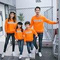 Família marca Outifts 2016 outono nova chegada camisolas roupas Da Família mãe Pai Família Feliz Crianças camisola