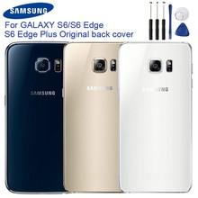 Original Samsung Back Battery Door Rear Glass Case For Samsung Galaxy S6 G9200 G920f S6 Edge G9250 G925F S6 Edge Plus Edge+ чехол для для мобильных телефонов oem bling samsung s6 g9200 s6 case for samsung galaxy s6 g9200