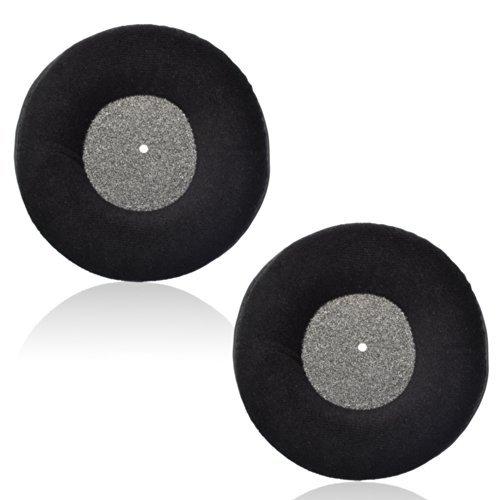 1 par de almohadillas de almohadilla de oreja de reemplazo de terciopelo de color negro para auriculares de estudio AKG K 240