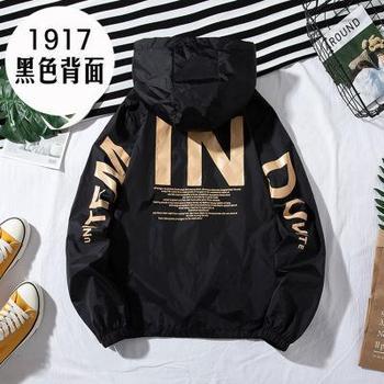 ZQLZ Women Windbreaker Jacket Women Fashion Print Letter Hooded Jacket Basic Jackets Plus Size 5xl Coats Female 10