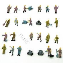 25 шт. архитектурной модели работников 1: 87 миниатюрный работников железной дороги людей с лестницами