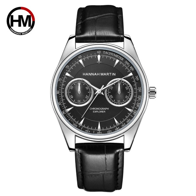 Dropshipping Pilot Explorer Men Sport New Wrist Watch Leather Business Casual Fa