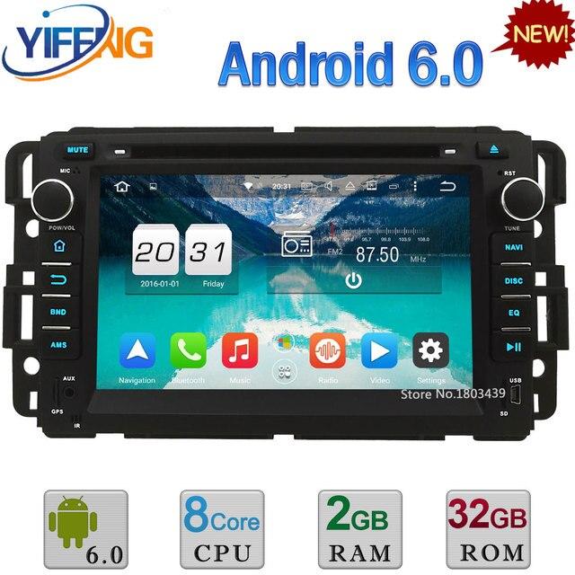 4G Android 6.0 32GB ROM Octa Core 2GB RAM Car DVD Multimedia Player Radio For Chevrolet Avalanche Equinox HHR GMC Yukon Sierra