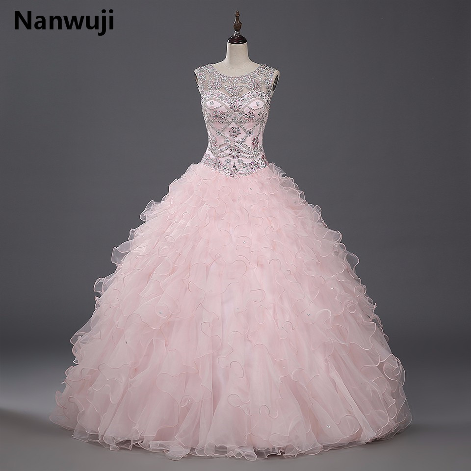Aliexpress.com : Buy 2016 Hot Light Pink Quinceanera Dress Ball Gown ...