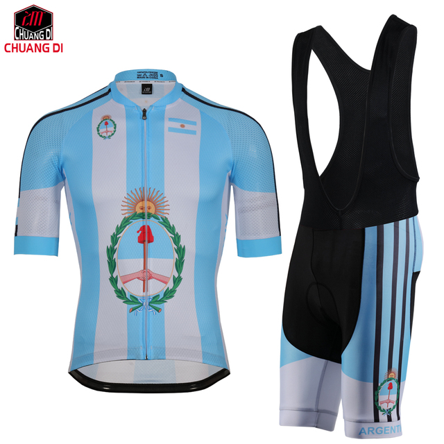 Argentina Cycling jersey polyester quick-dry pro bike jersey MTB Ropa  Ciclismo team sky Bicycling maillot shirts National flag 1681fc814