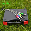New 2014 Fishing Color Illuminated Swinger Bite Indicator Set In Black Fishing Box