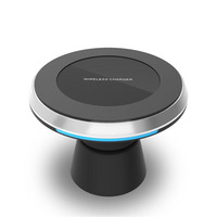 360 Rotation Universal QI Standard Wireless Charger Air Vent Magnetic Phone Car Holder For Samsung S8