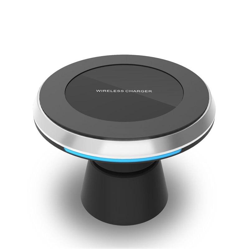 360 Rotation Universal QI Standard Sans Fil Chargeur Air Vent Magnétique téléphone Support De Voiture Pour Samsung S8 plus s7 bord rapide de charge