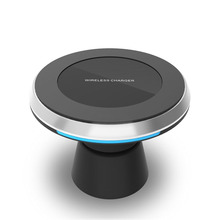 360 Rotation Universal QI Standard Wireless Charger Air Vent Magnetic Phone Car Holder For Samsung S8 plus s7 edge fast charging