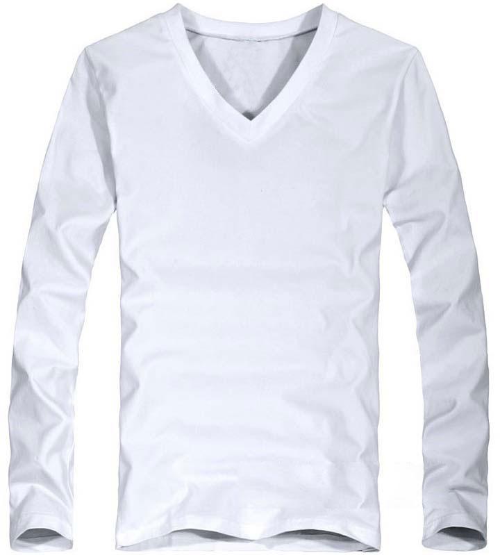 Elastic Mens T-Shirt V-Neck Long Sleeve Men T Shirt For Male Lycra And Cotton T-Shirts Man Clothing TShirt 28