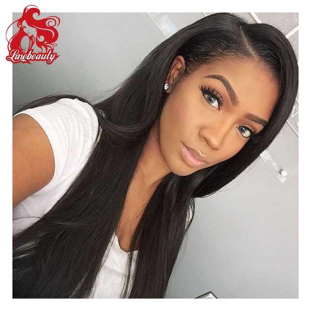 Top Quality Long Straight Synthetic Lace Wigs For Black Women Heat ...