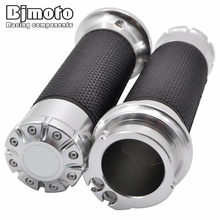 "Custom CNC Aluminum None-Slip Gel Rubber Handlebar Grips Handle Bar Grips 1"" 25mm For Harley Softail Sportster Touring Dyna(China)"