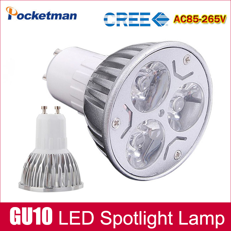 1pcs Super Bright 9W 4W 5W 3W GU10 LED Bulbs Light 110V 220V Dimmable Led Spotlights Warm/Cool White GU 10 base LED downlight