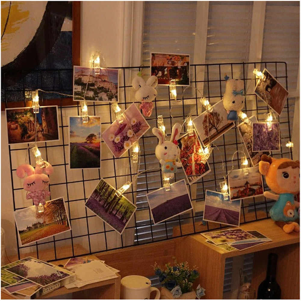 1.5M 10 LED String Light Home Wall Hanging Card Picture Clips Photo Pegs String Light Lamp Indoor Decor Fashion String Lamp#es