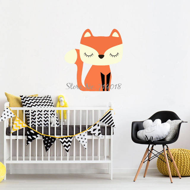 Exceptional Cute Cartoon Fox Wall Stickers Vinyl Wall Decals Kids Bedroom Home Decor  Boys Playroom Wall Tattoo