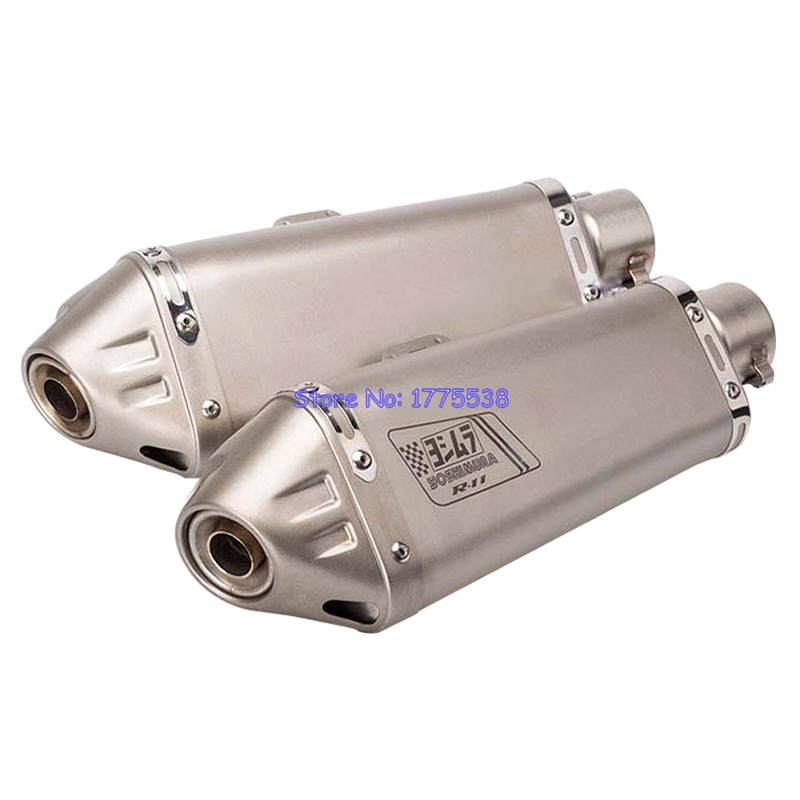 ID:51mm L:360mm Motorcycle Scooter Exhaust Muffler Pipe Escape Laser Titanium Color Motorbike Exhaust Pipe Muffle with DB Killer