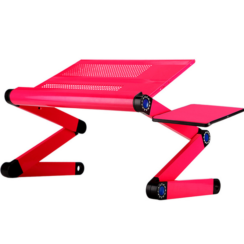 Image 4 - High Quality Portable foldable adjustable folding table for Laptop Desk Computer Desk mesa para notebook Stand Tray For Sofa Bed-in Laptop Desks from Furniture