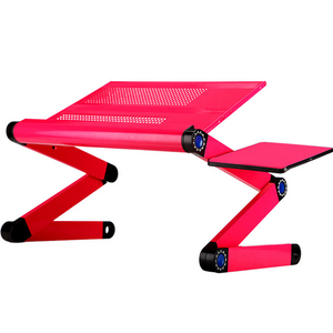 Image 4 - High Quality Portable foldable adjustable folding table for Laptop Desk Computer Desk mesa para notebook Stand Tray For Sofa Bed