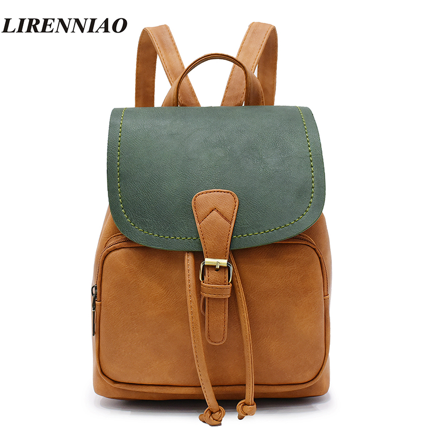 Fashion Panelled Backpack Women Bag Preppy Style School Bags For Teenage Girls Travel Backpacks Hot Sale Pu Leather Backpack Sac baja 5b off road front wheels set only 2pc front