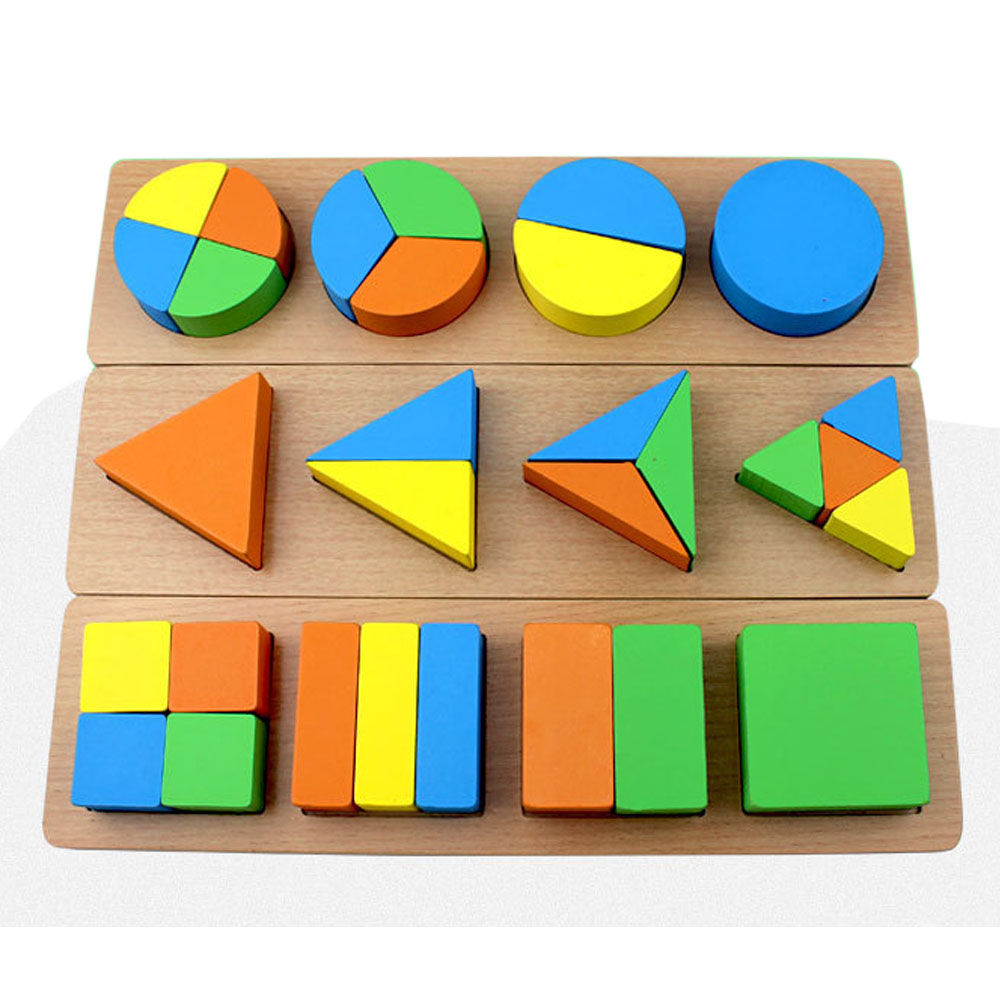 Building Toys For 3 Year Olds : Wooden geometric shape sorter board building block toy