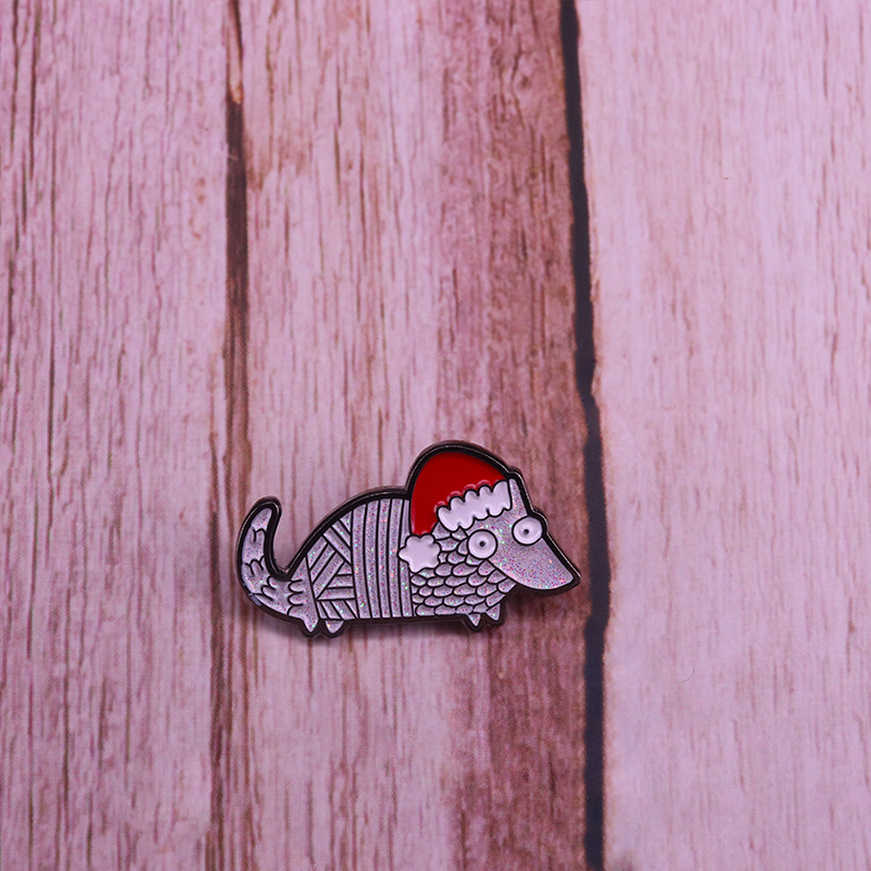 Wooden Pin Megalodon Lapel Pin