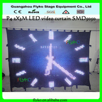 Flexible P5 2X3M PC Controller, Video led curtain full color RGB background