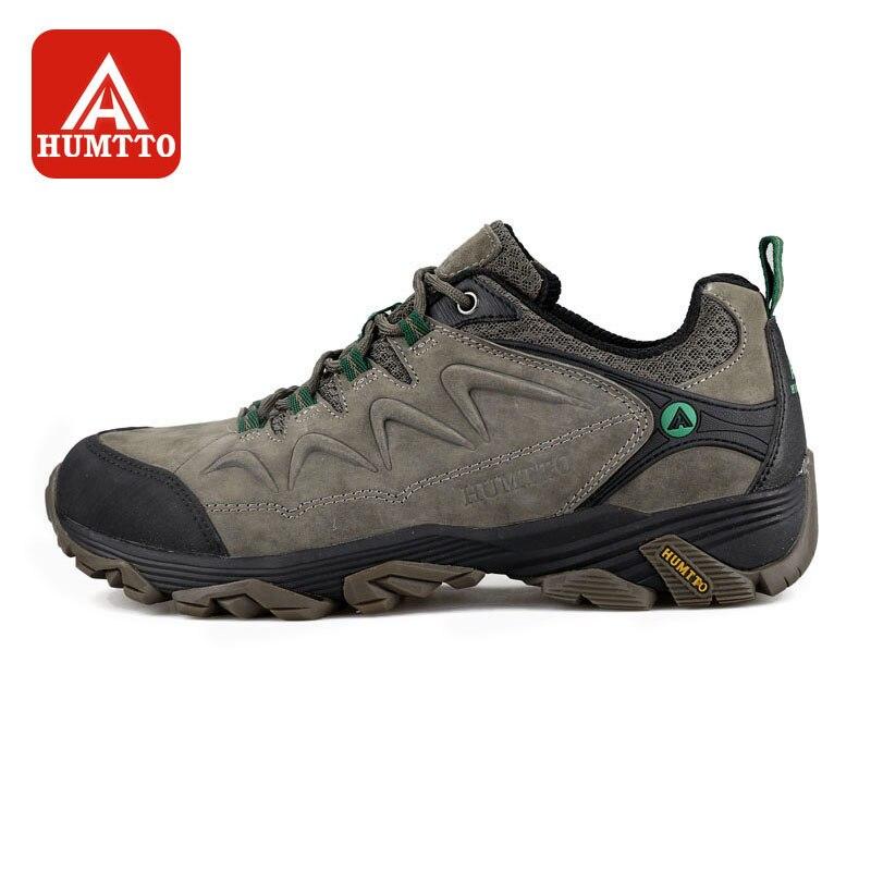 HUMTTO Hommes chaussures de randonnée antidérapant résistant à l'usure Escalade Chaussures D'hiver En Plein Air Marche Voyage Confortable
