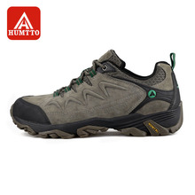 купить HUMTTO Men Hiking Shoes Non-slip Wear-resistant Climbing Shoes Winter Outdoor Walking Travel Comfortable Big Size дешево